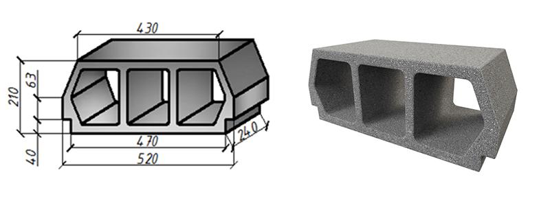 Блок перекрытия BREGO-ECONOM (Teriva)